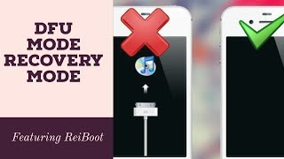 How to enter DFU mode / Recovery Mode / any - iPad / iPhone | Priyank Gada