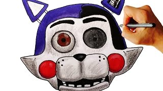 Pk How to draw withered Candy cat jumpscare from FNaC 2 FNaF fan game drawing lesson