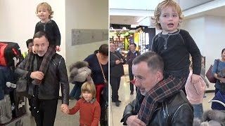 David Furnish And Elton John's Son Is Such An Entertainer At LAX!