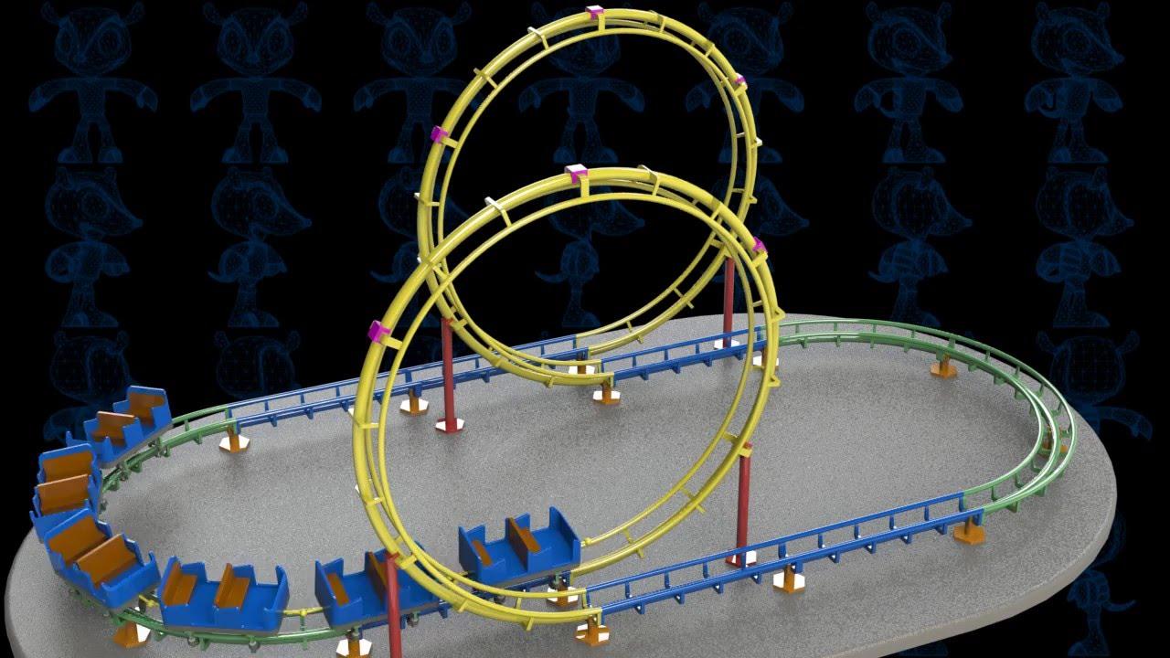 Roller coaster toy 3d model youtube for 3d kuchenplaner roller