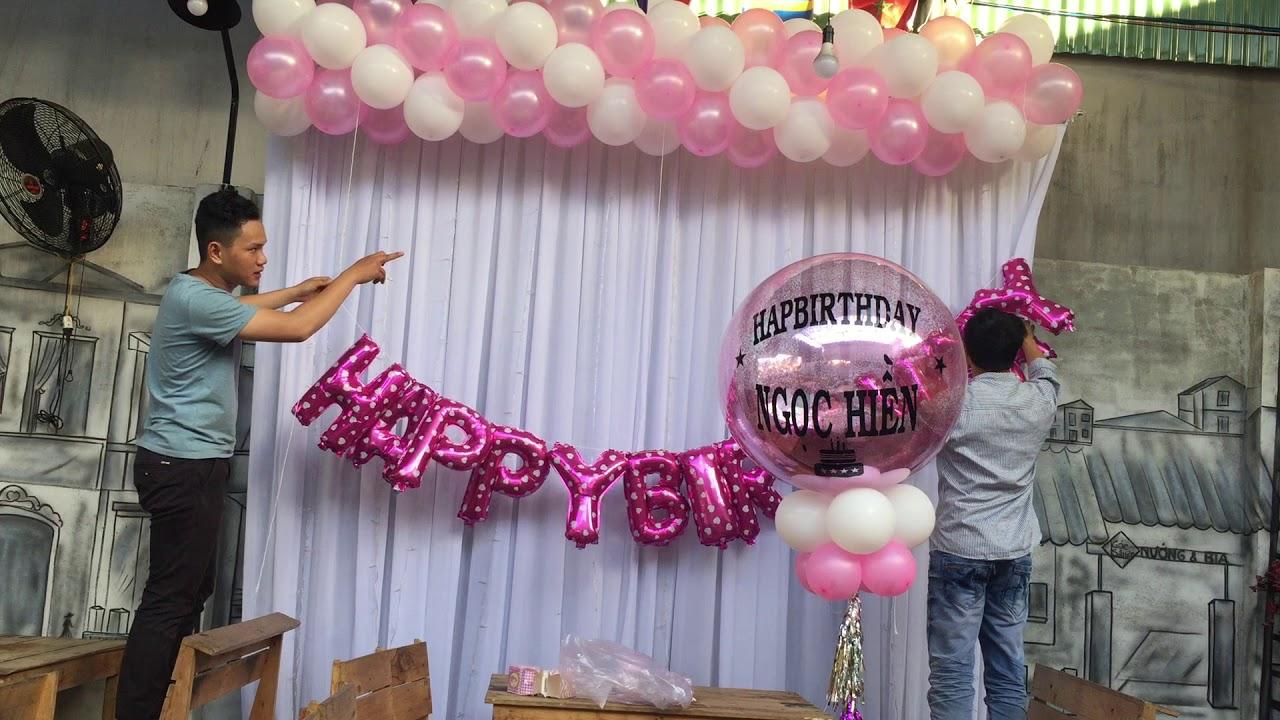 Hướng dẫn lam bong bóng trang trí sinh nhật – Thầy linh bong bóng – Nguyễn Văn Linh