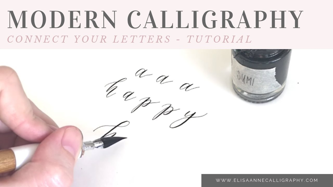 How To Connect Your Letters When Writing In Calligraphy
