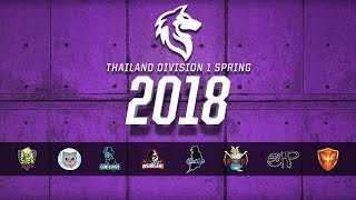 Thailand Division 1 Spring Season 2018 Day 1 Week 8
