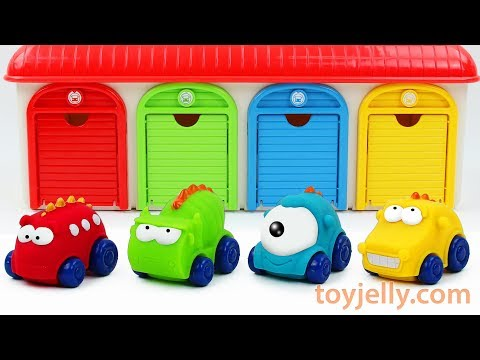 Play Doh Car Toys for Children Learn Colors with Garage Parking Playset Nursery Rhymes for Kids