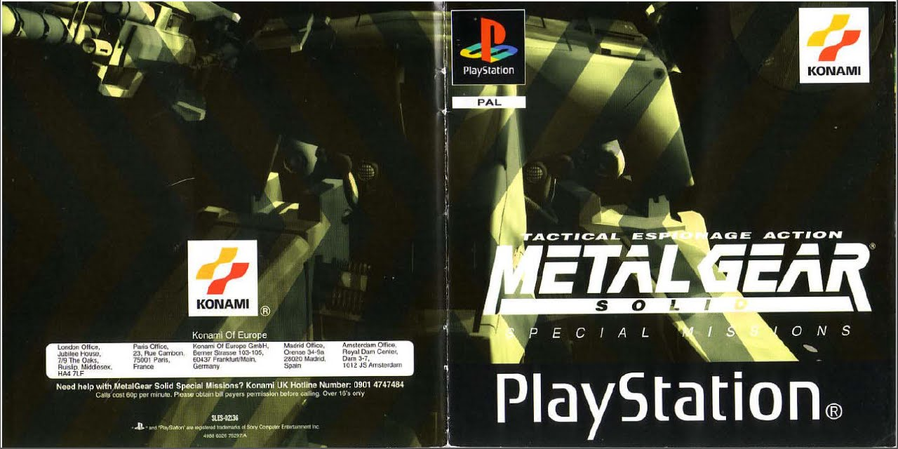 Metal Gear Solid Special Missions - Game Manual (VR Missions) (PSX)  (Instruction Booklet)