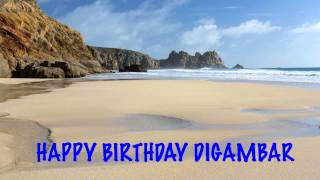 Digambar   Beaches Playas - Happy Birthday