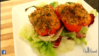 Vegan Stuffed Peppers With Couscous | Recipes By Chef Ricardo