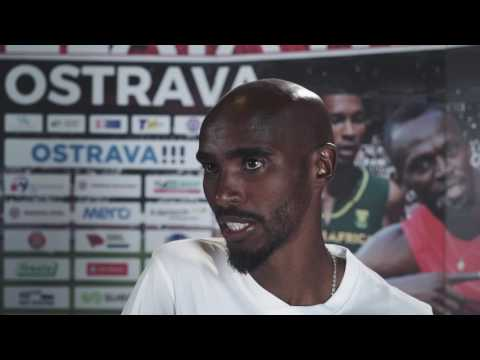 Mo Farah - Interview before Ostrava Golden Spike 2017
