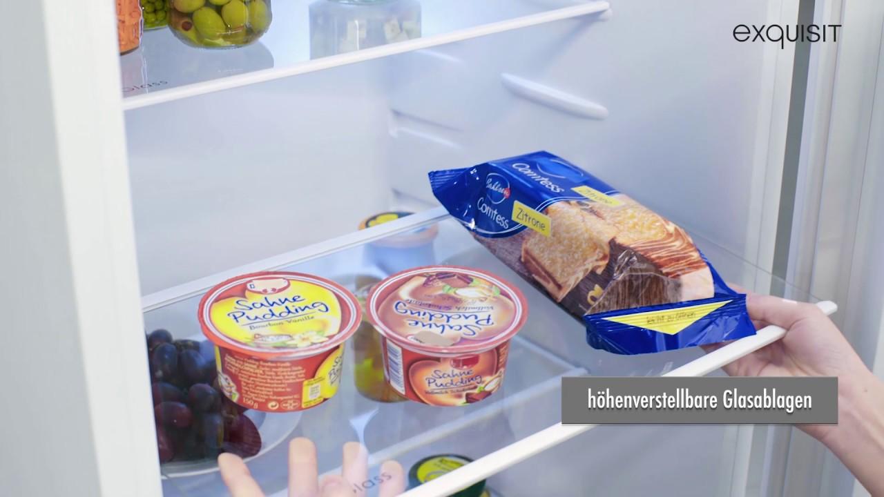 Bomann Kühlschrank Temperatur Einstellen : Kühlschrank mit gefrierfach ks ea youtube