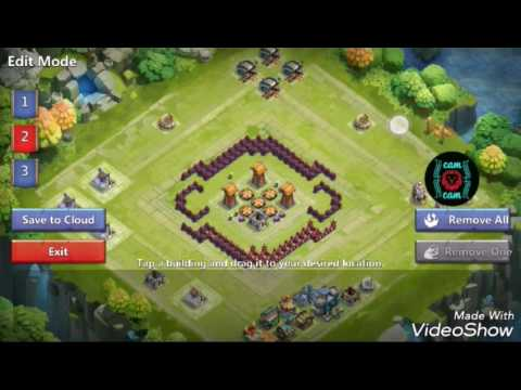 Castle Clash Base Layout TH 12 HBM F
