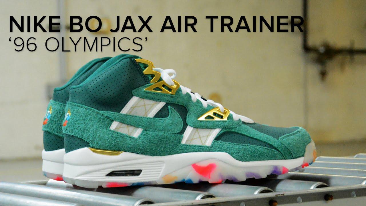 quality design 284b3 780a4 Bo Jackson Air Trainer SC High  96 Olympic  Contest in Atlanta - YouTube