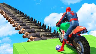 GTA V - WIPEOUT OBSTACLES RUN CHALLENGE w/ Spiderman