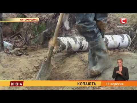 На Житомирщині копають бурштин - Вікна-новини - 12.09.2016