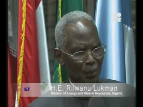H.E. Rilwanu Lukman, Minister of Energy and Mineral Resources, Nigeria