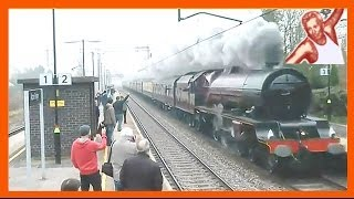 Steam Trains At High Speed - Techno Music: Some Of World