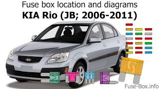 Fuse box location and diagrams: KIA Rio (JB; 2006-2011) - YouTube