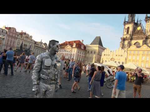 Prague Centre Robo-Busker - you'll Never Believe What Happens Next!