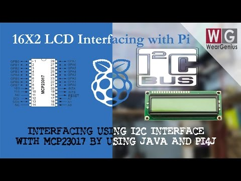 16x2 LCD using I2C | MCP23017| JAVA | Pi4J | Raspberry Pi #23 - YouTube