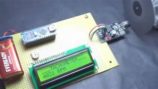 cách máy đo tốc độ động cơ-arduino TACHOMETER