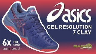 Tênis Asics Gel Resolution 7 Clay Barra Tennis
