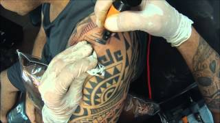 132 Nélio Cadar tatuando Maori 3/4 Luciano