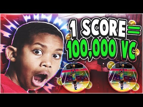 1 SCORE=100,000 VC WITH 14 YEAR OLD COREY- I'M GOING BROKE? NBA2K18