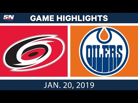 NHL Highlights | Hurricanes vs. Oilers - Jan. 20, 2019