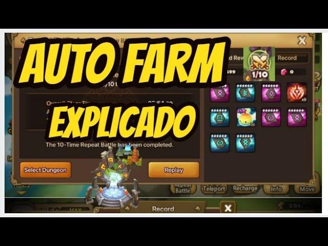 CHEGOU O AUTO FARM NO SUMMONERS WAR (  E ELE ESTÁ INCRÍVEL )!