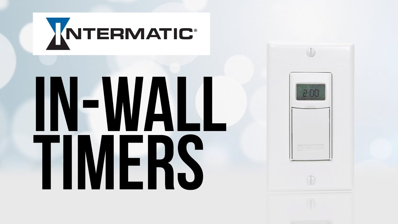 intermatic in wall timers offer versatile lighting control options [ 1280 x 720 Pixel ]