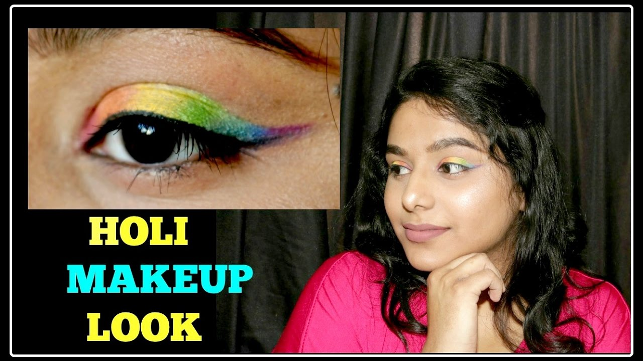 Download ❤️💛💚💙💜 HOLI MAKEUP LOOK 💜💙💚💛❤️