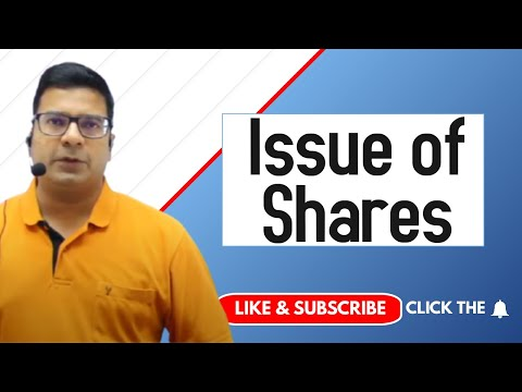 Issue of shares by Santosh kumar (CA/CMA)