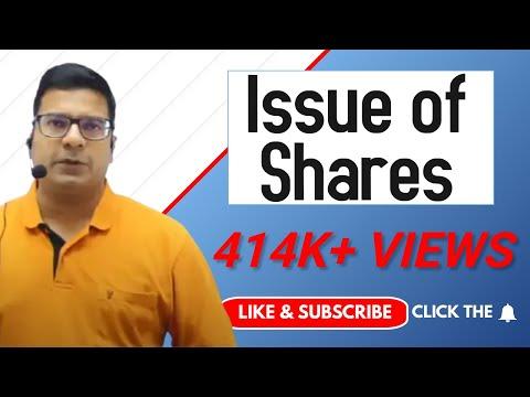 Issue of shares by CA/CMA Santosh kumar