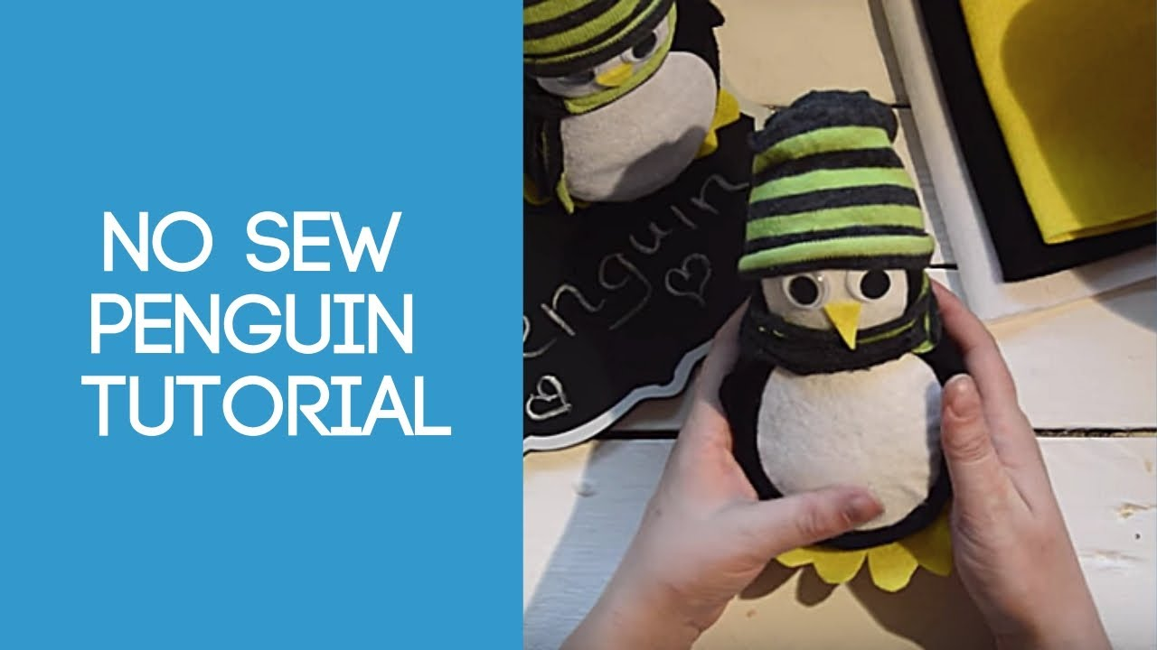 no sew sock penguin craft no sew penguin tutorial 6962