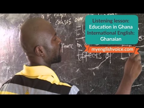 Education in Ghana: International English listening lesson