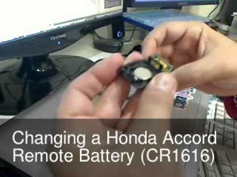 2009 honda accord key battery replacement