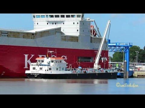 tanker MAAIKE PC2246 IMO 244740200 bunkering car carrier EMS HIGHWAY in Emden