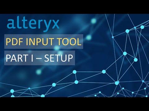 Alteryx - PDF Input Tool Setup