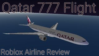 Roblox Airline Review - Qatar 777 Flight First Class