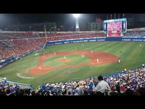 "2017.6.27 Yokohama DeNA BayStars (vs Carp) introducing ""スペンサー・パットン"" for his mound of 7th inning"