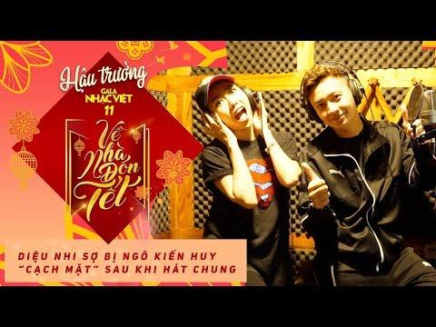 Diệu Nhi sợ bị Ngô Kiến Huy cạch mặt sau khi hát chung | Hậu trường Gala Nhạc Việt 11 (Official)