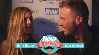 Geordie Shore's Kyle Christie and Holly Hagan play Mr. & Mrs.