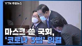 마스크 쓴 국회, '코로나 3법' 의결 / YTN