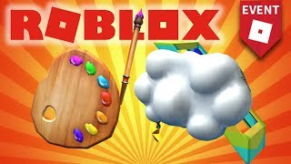 How To Get POWER PAINTBRUSH and CLOUD MESSANGER BAG!! (Roblox Imagination Event 2018)