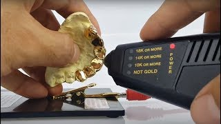 Bling Cartel 10K Gold Custom Grillz - Gold Test!