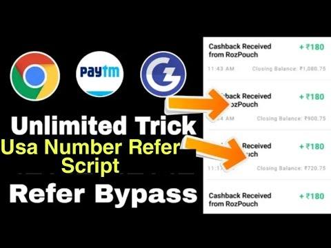 Gamezop Online Refer Script Usa Number Otp Bypass Tricks | Unlimited Paytm Money Hack 2019