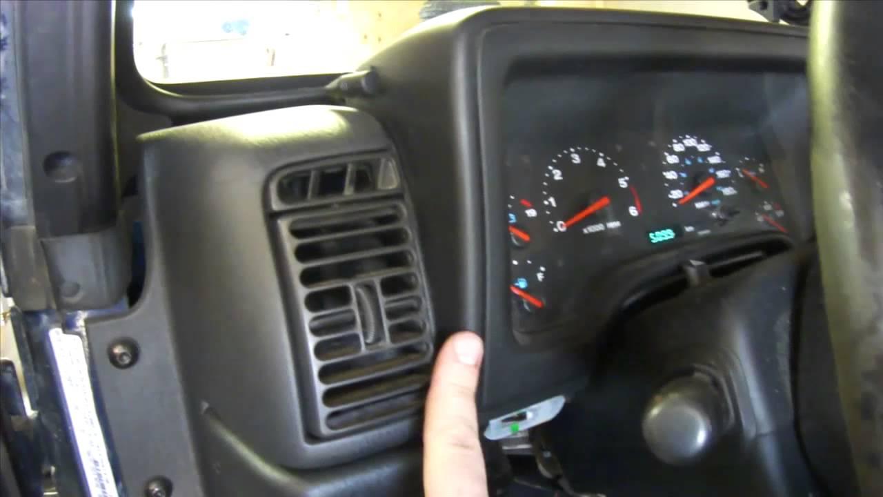 diy instrument cluster removal jeep tj [ 1280 x 720 Pixel ]