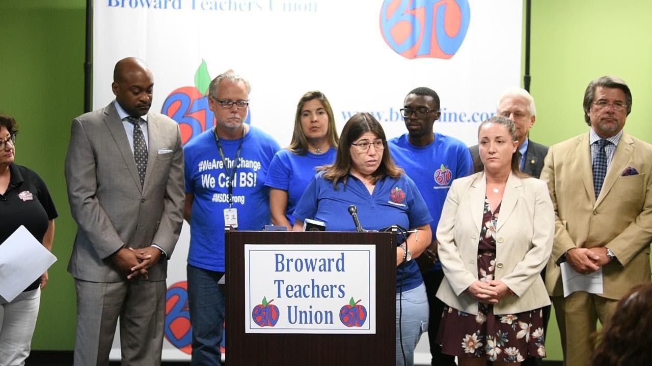 Broward teachers call upon Rick Scott to address gun manufacturers and retailers