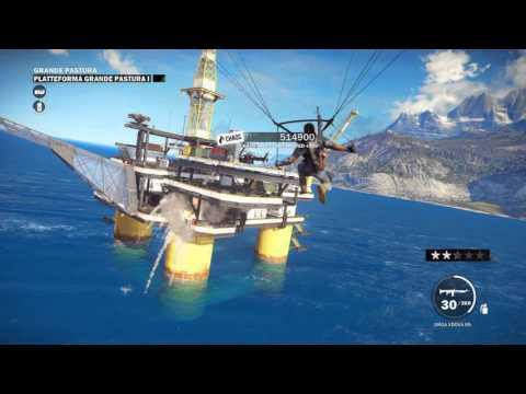 Just Cause 3 - Offshore oil rig destruction