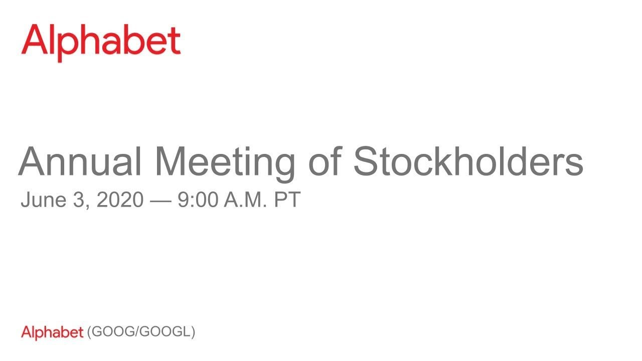 2020 Annual Meeting of Stockholders