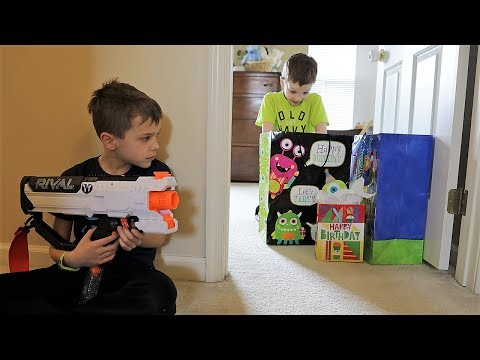 Nerf War:  The Mystery Birthday Gift